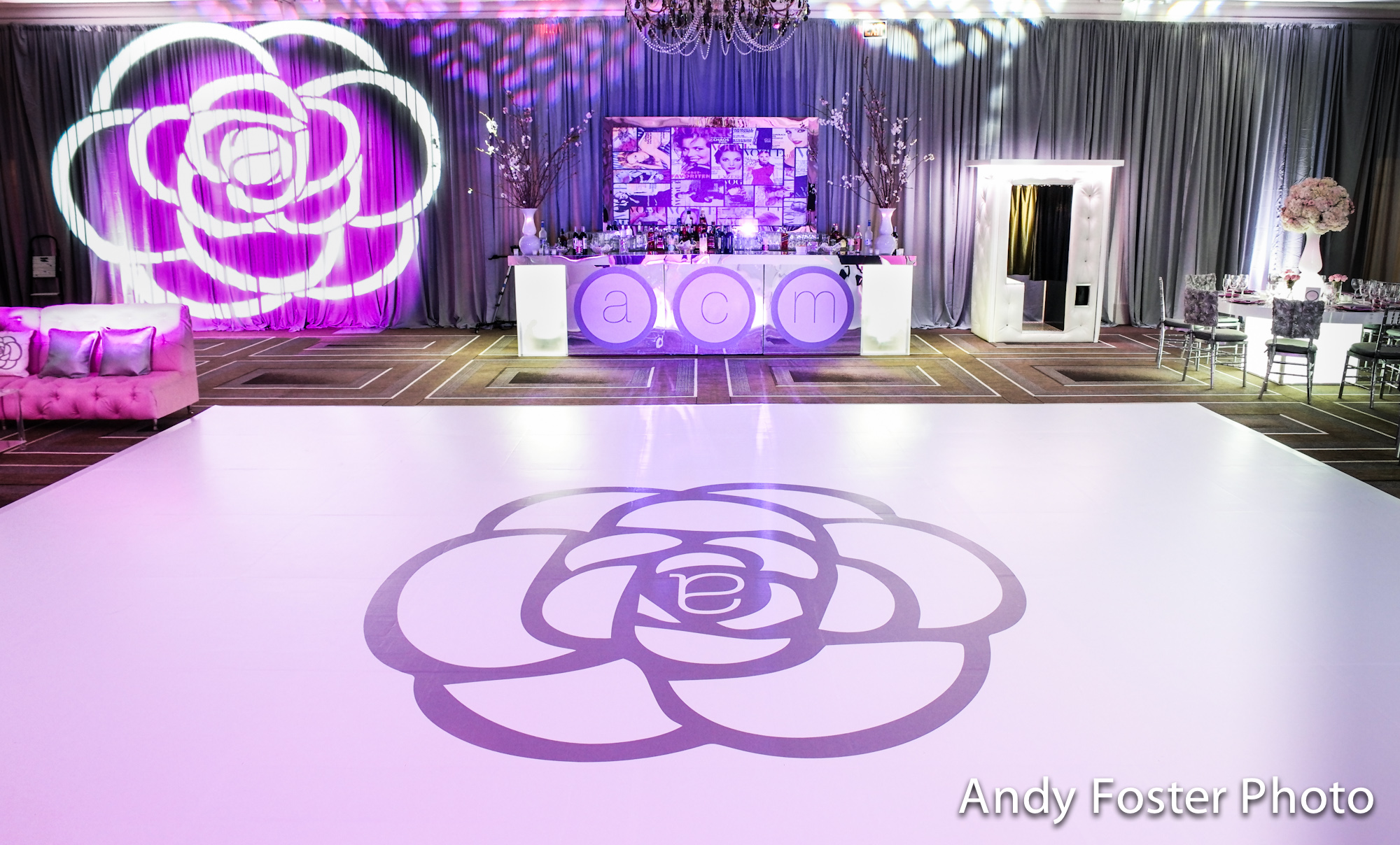 Our custom dance floors and floor graphics from Bombshell Graphics.