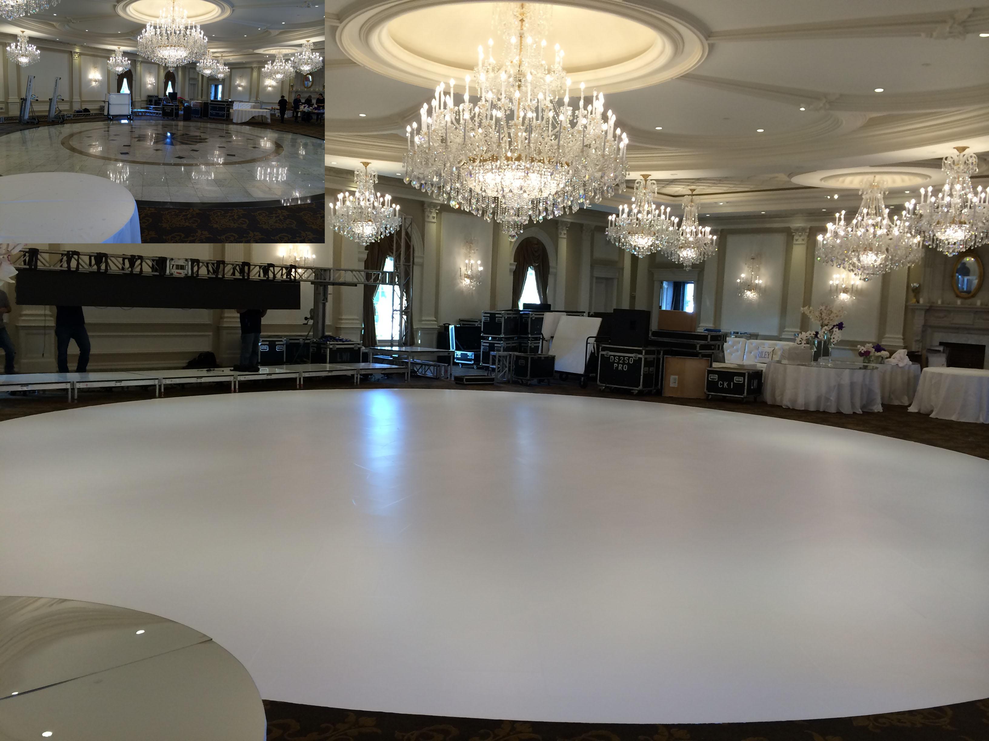 White Dance Floor Wraps