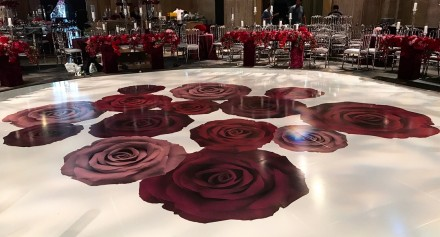 Floral Design roses made from vinyl