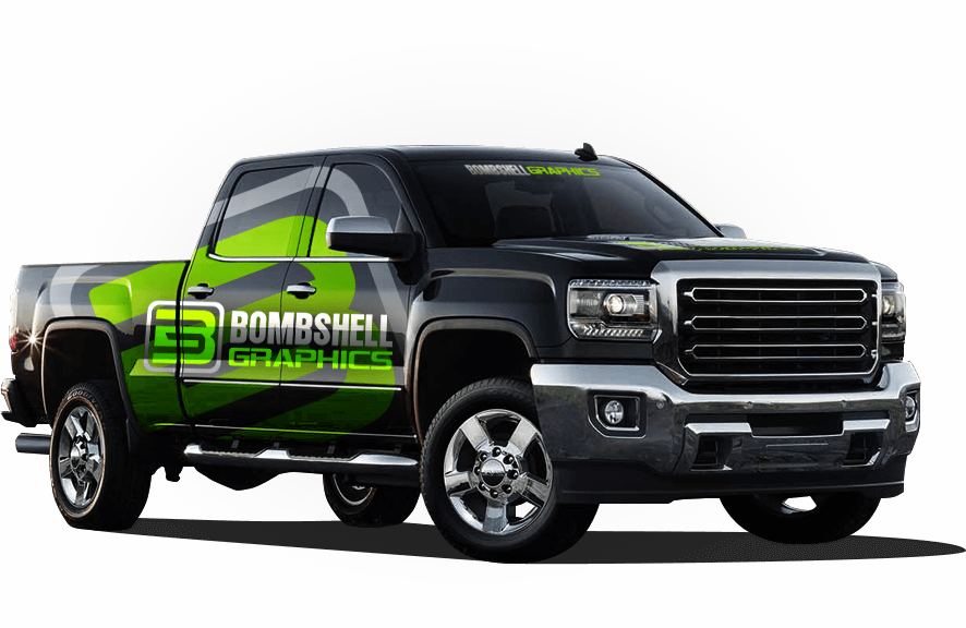 Truck wraps and tow truck wraps as well as vinyl car wraps from Bombshell Graphics.