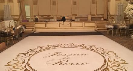 wedding floor monogram