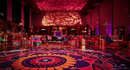 colorful dance floor wrap