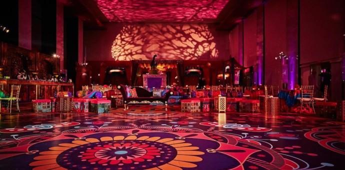 colorful dance floor wrap